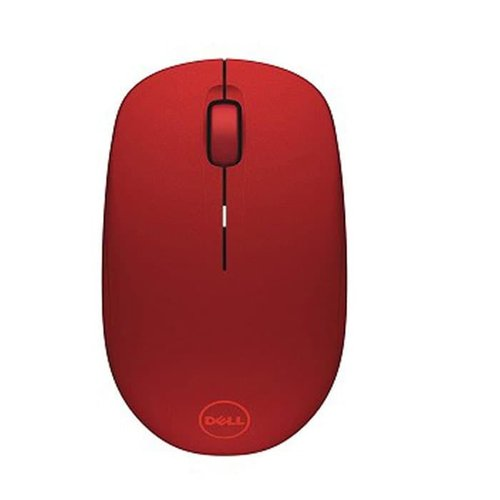 Dell WM126 Mouse Wireless HITAM - Merah