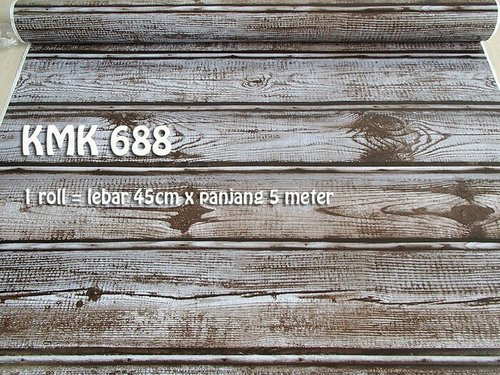 WALLPAPER MURAH !! TERLARIS TINGGAL TEMPEL  PVC WALLPAPER 5M!! WPP 688