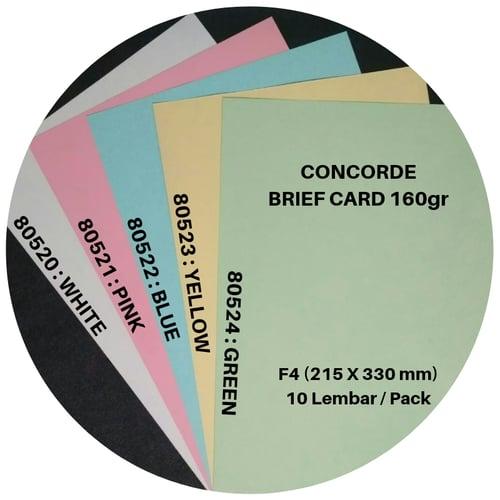 Concorde Brief Card 160gr F4 isi 10 Lembar