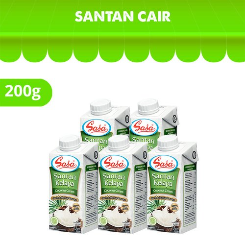 Sasa Santan Cair 200ml 5 Pcs