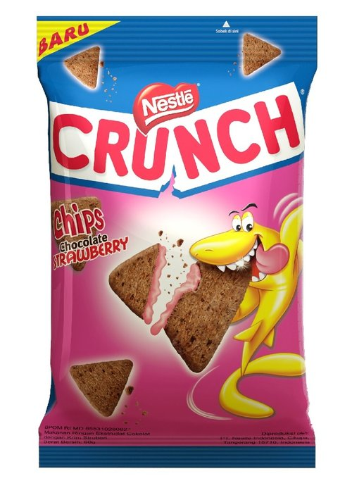 NESTLE CRUNCH Chips Chocolate Strawberry 60g