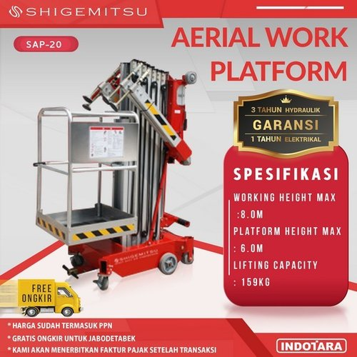 Tangga Elektrik - Single Masts Aerial Work Platform SAP20-AC