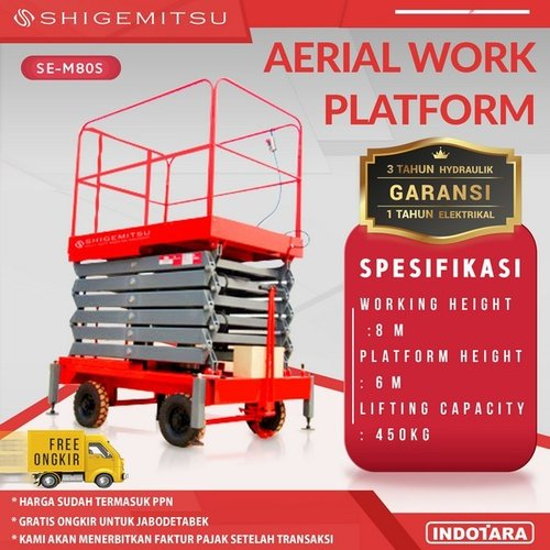 Tangga Elektrik - ELECTRIC PUSH MOBILE SCISSOR LIFT SE-M80S AC
