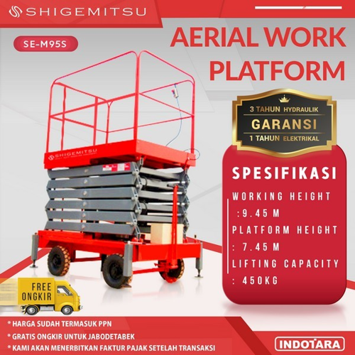 Tangga Elektrik - ELECTRIC PUSH MOBILE SCISSOR LIFT SE-M95S AC