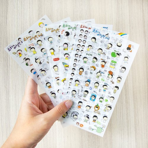 Joha Daily Life Diary Deco Stickers / Sticker Unik / Sticker Lucu