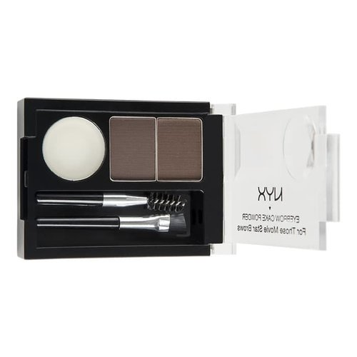 NYX Eyebrow Cake Powder Black Gray