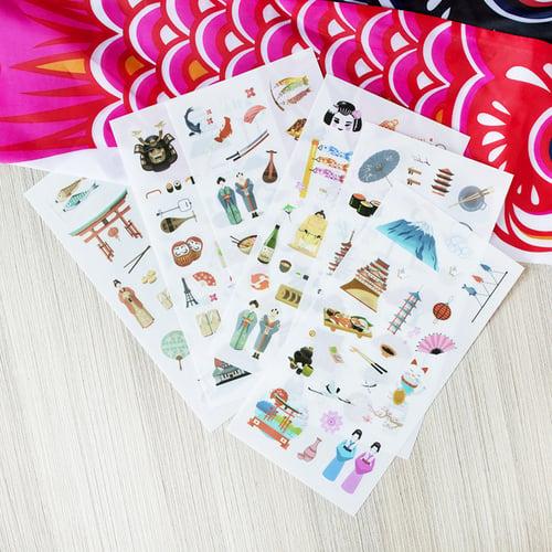 One Day in Japan Diary Deco Stickers / Sticker Unik / Sticker Lucu