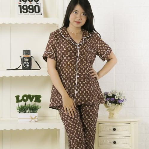 Baju Tidur Piyama Katun Wanita PY80B size M
