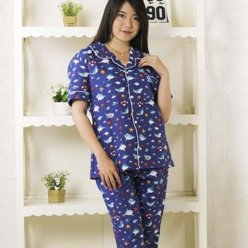 Baju Tidur Piyama Katun Wanita PY71B size XL