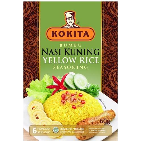 KOKITA Bumbu Nasi Kuning 60 gr - 24 pcs (1  box)