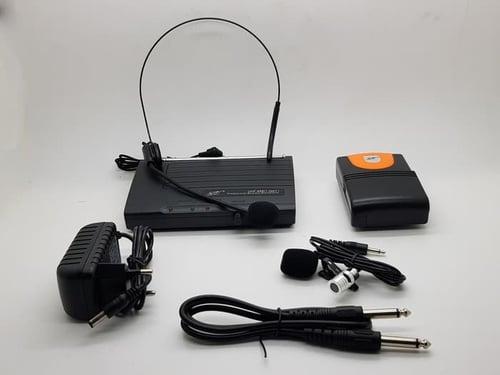 Mic Wireless PEWIE UHF Mic headset bando