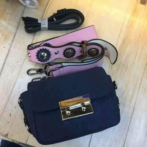 Tas wanita Supplier grosir tas wanita branded ZARA DOUBLE LOCK SUEDE