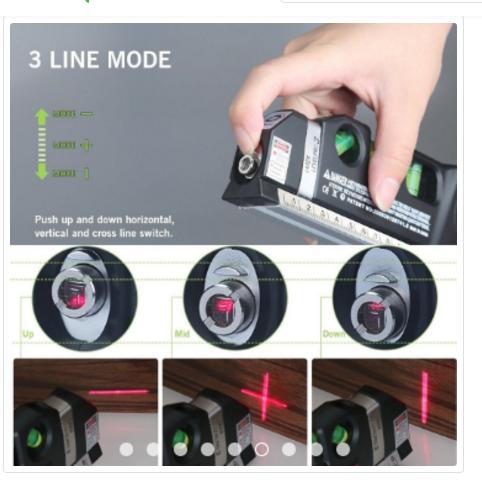 Fixit Laser Levelpro3 Kombinasi Meteran Laser Waterpass