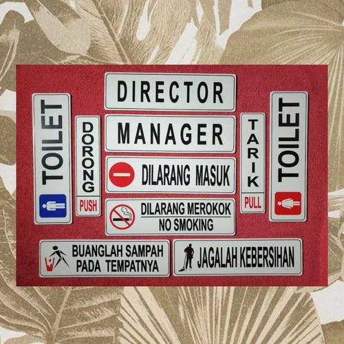 Stiker Petunjuk PAHE 13 Sign Acrylic