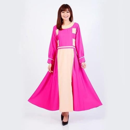 Pakaian Gamis Muslimah Jfashion Premium Gamis Kombinasi tangan