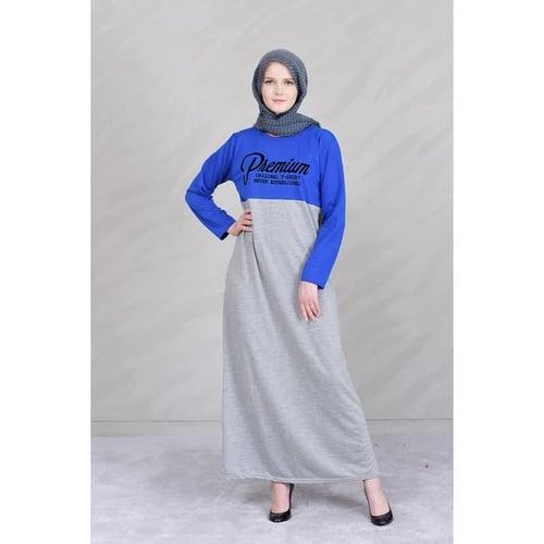 Pakaian Gamis Muslimah Murah Jfashion Gamis Kombinasi warna plus