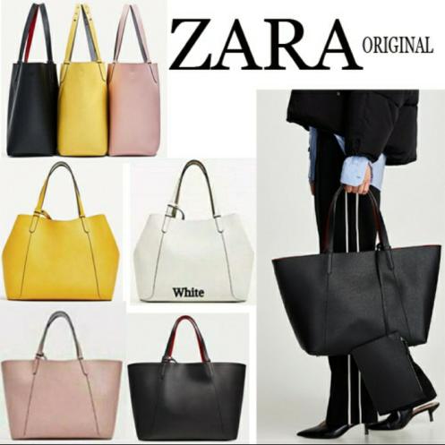 Tas wanita Zara original tote bag set dompet