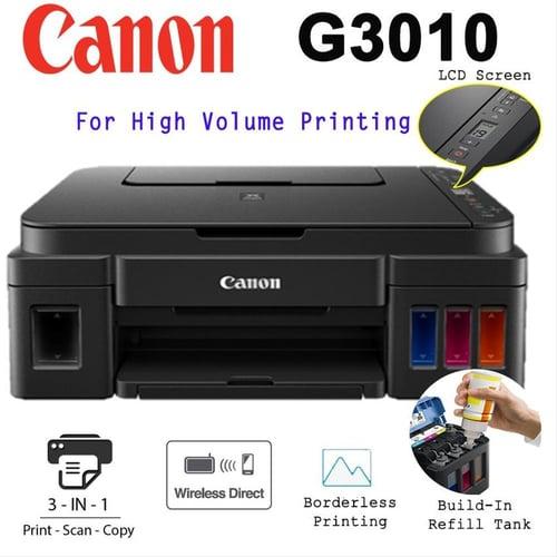 Printer Canon Pixma G3010 Inktank Print Scan Copy