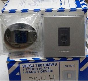WESJ78019MWS+2164H PLATE WITH MODUL TELEPON PANASONIC