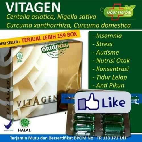 Obat Herbal Meningkatkan Daya Ingat dan Konsentrasi - Vitagen isi 30 kapsul