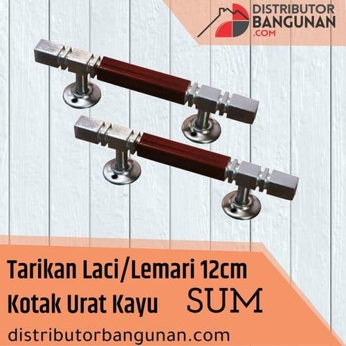Tarikan Laci/Lemari 12cm Kotak Urat Kayu SUM