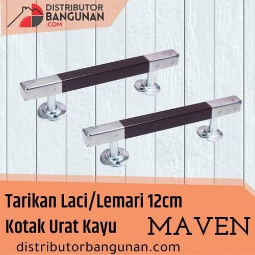 Tarikan Laci/Lemari 12cm Kotak Urat Kayu MAVEN