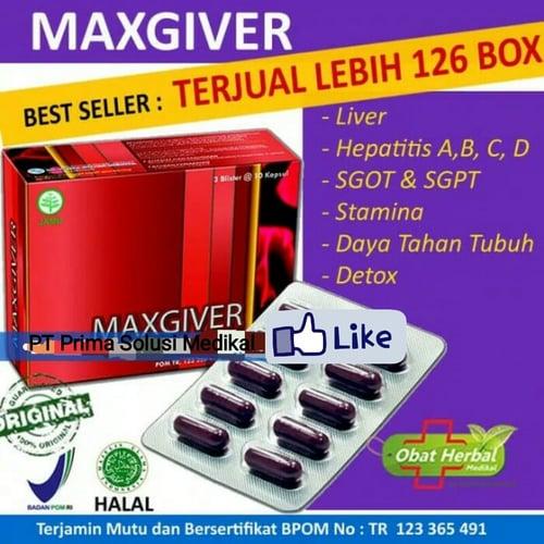 Obat Herbal Mengobati Hepatitis Segala Type - Maxgiver isi 30 kapsul
