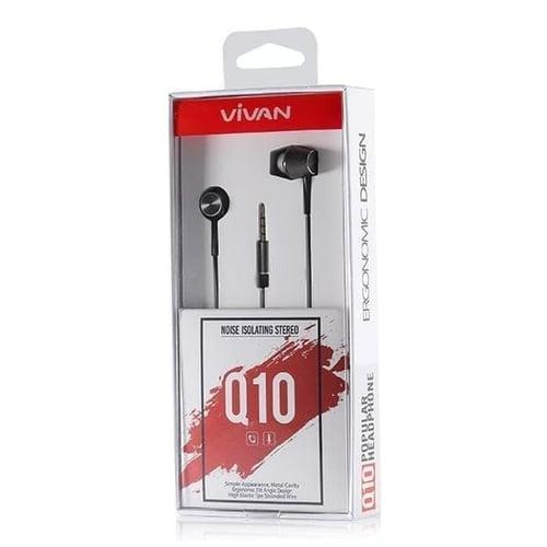 Handsfree Headset Earphone Vivan Q10 Noise Isolation Stereo