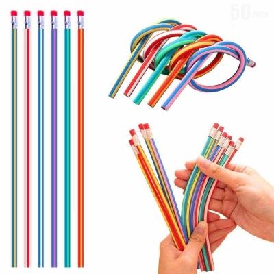 Pensil Kreatif bisa Tekuk - Elastis - Menekuk dengan Penghapus (5 pcs)