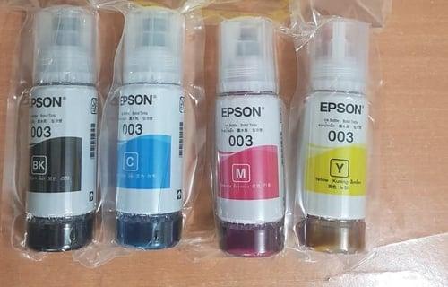 Tinta Epson 003 Black And Color Printer L3110 L3150 L1110