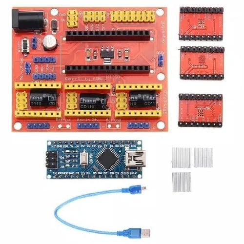 paket 3D Printer Arduino CNC Shield V4 Nano 3.0 A4988 Driver
