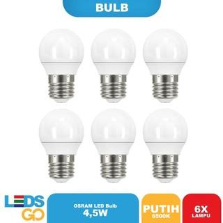 ( SPECIAL ISI 6) OSRAM Lampu Bohlam LED 4,5 Watt Putih