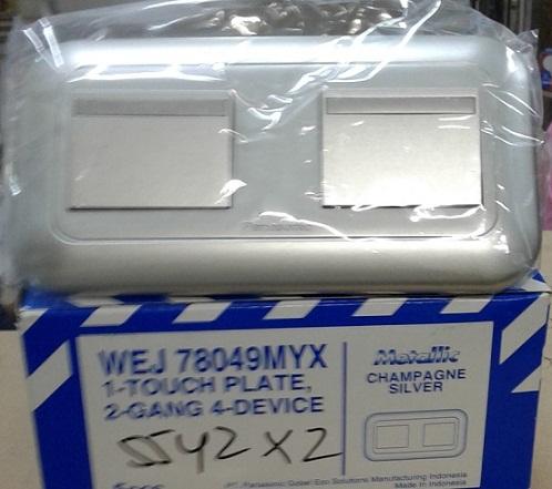 WEJ78049MYX+5542X2 PLATE WITH SAKLAR PANASONIC