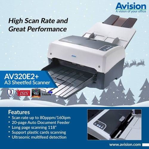 Avision Scanner AV320E2+ / ADF / A3 / 80 ppm