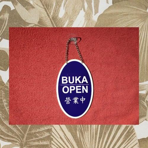 Stiker Petunjuk Buka + Tutup (Open + Close) Mandarin Sign Acrylic