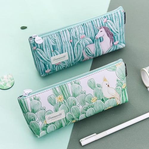 Green World Leather Pencil Case / Tempat Alat Tulis / Tempat Pensil