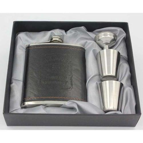 Botol Bir Hip Flask Stainless Steel Leather 7Oz