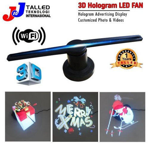 Kipas 3D Hologram Display LED Fun WIFI TALLED