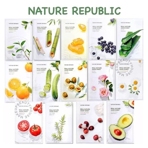 Nature Republic Sheet Mask Real Nature Whitening Masker