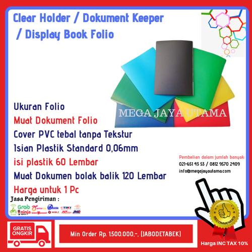 Display Book - Clear Holder - Document Keeper 60  Folio