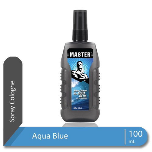MASTER Spray Cologne Aqua Blue Botol 100 ml