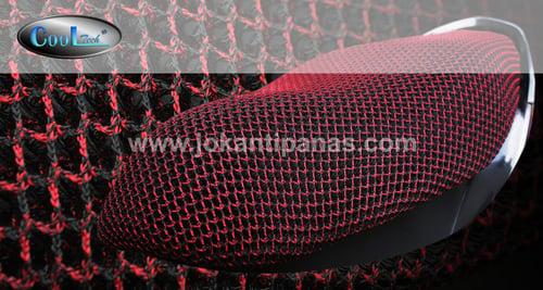 Sarung Jok Motor Anti Panas ORI COOLTECH Warna TWIST MERAH Ukuran M/L