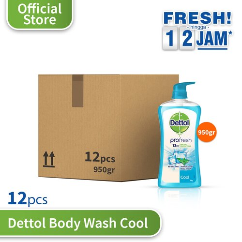 Dettol Cool 950g Pump - 12 pcs
