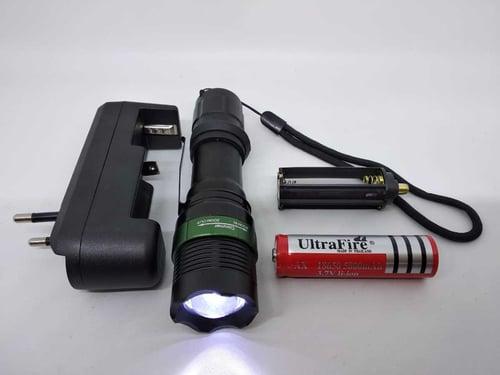 Senter LED Tactical 10000 LM XML T6 Termasuk Baterai dan Charger