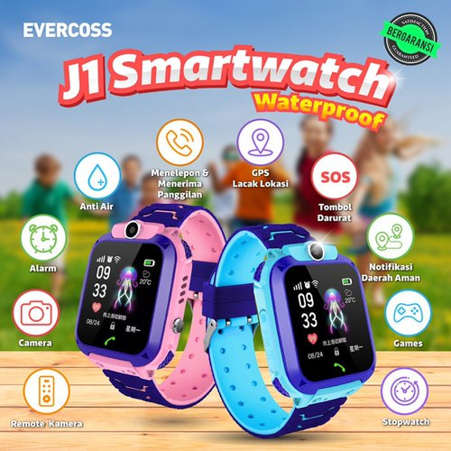 Evercoss J1 smart watch kid Jam Pelacak Anti Air Bergaransi