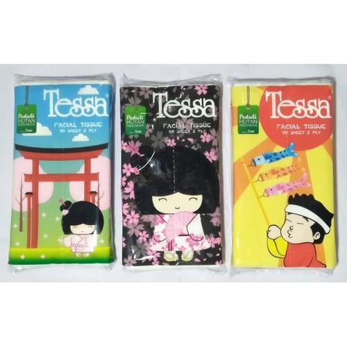 PAKET Isi 10 Pc Tissue Facial - Tissue Tessa Mini Travel Pack - Facial 50 S - Lembaran