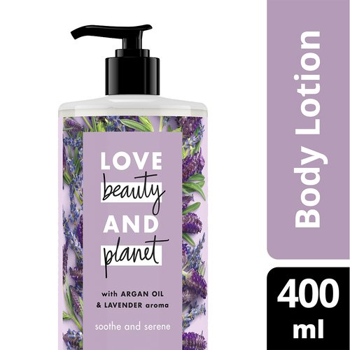 LOVE BEAUTY PLANET BODY LOTION ARGAN OIL & LAVENDER 400ML