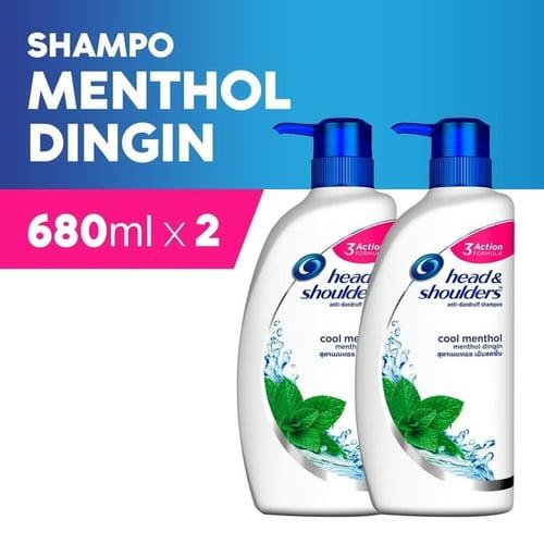 HEAD AND SHOULDER Shampoo Cool Menthol 680 ml Isi 2pcs
