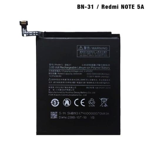 Battery Ori 99 Xiaomi BN-31/Mi 5X/Mi A1/Redmi Note 5A/Y1 Lte