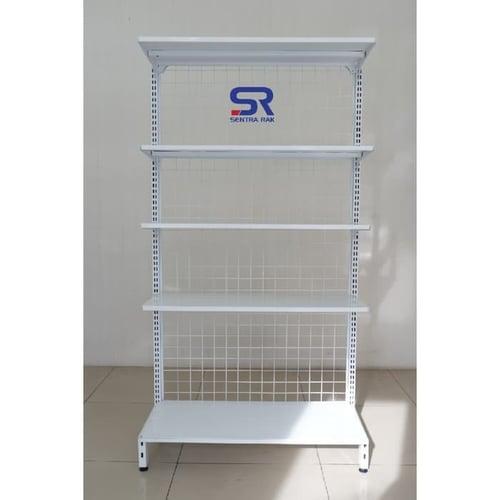 Rak Minimarket Tipe B Single 170 x 90 x 35 cm -5 susun- Jointing
